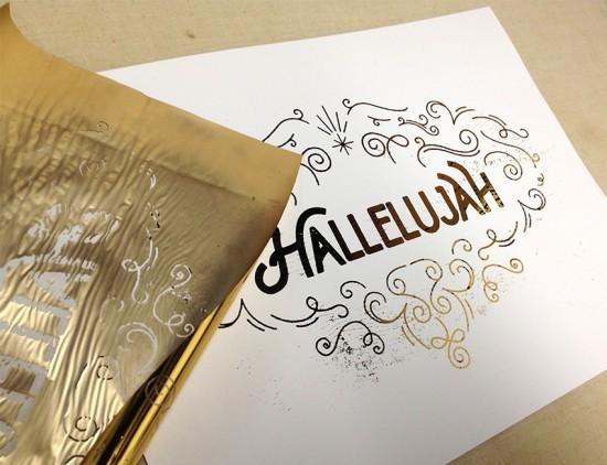 gold foil hallelujah 5
