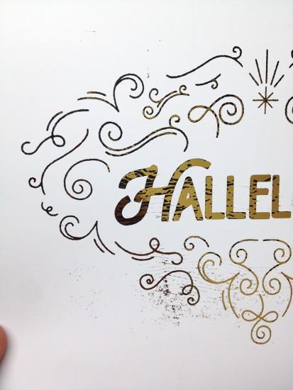 gold foil hallelujah 6