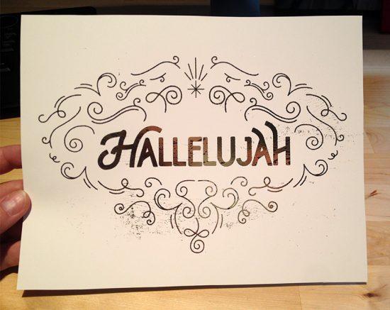 gold foil hallelujah 8