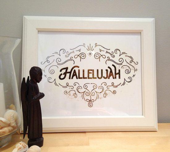 gold foil hallelujah 9