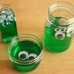 Googly-Eyed Green Blobs