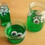 Googly-Eyed Green Blobs