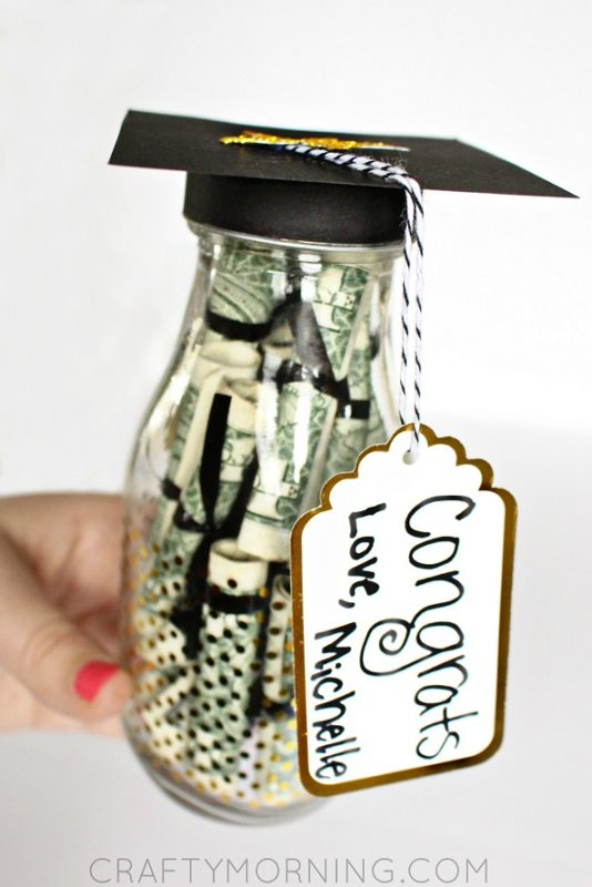 Graduation Glass Bottle Gift