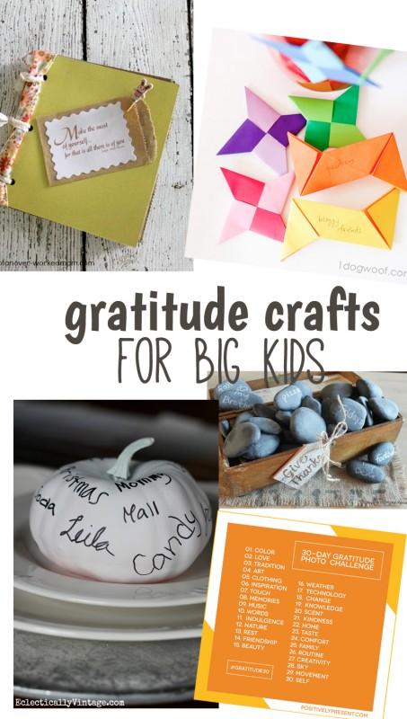 Gratitude crafts for big kids