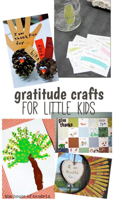 Gratitude crafts for little kids