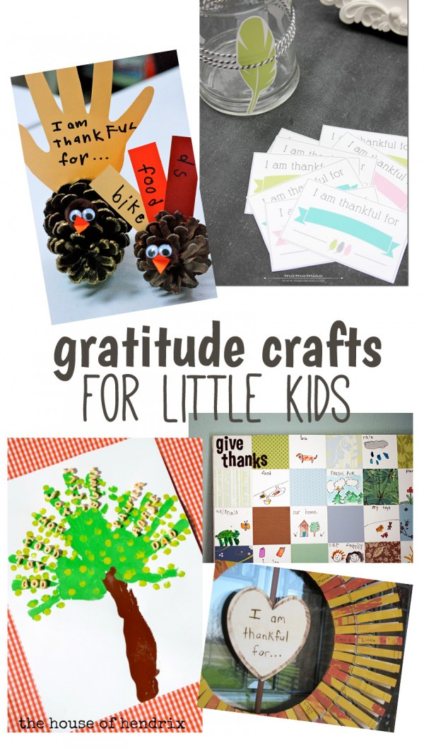 Gratitude crafts for little kids