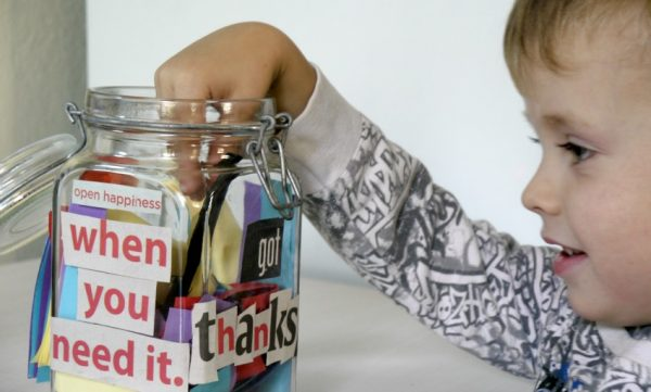 gratitude jar open