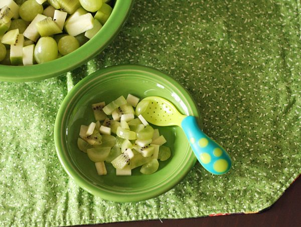 Green fruit salad for toddlers