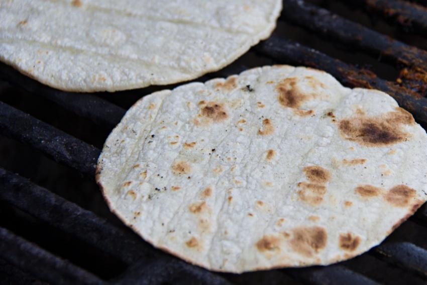 grilled corn tortillas