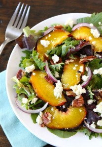 Grilling Peaches for a Summer Salad