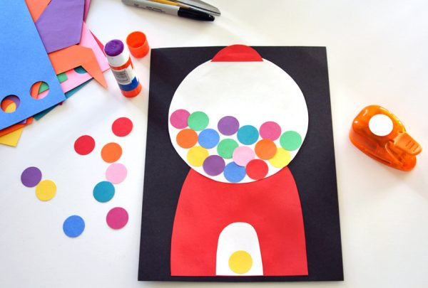 Gumball Machine Art for Kids