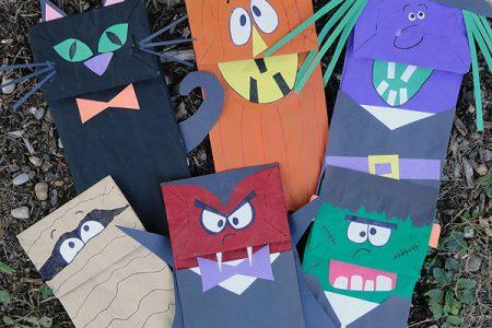 Halloween Paper Bag Puppets