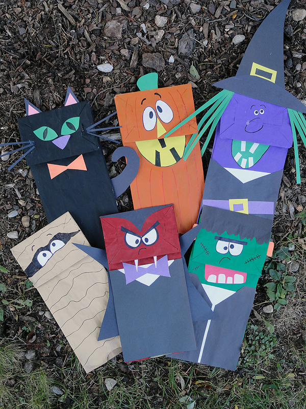 Halloween Paper Bag Puppets Make And Takes