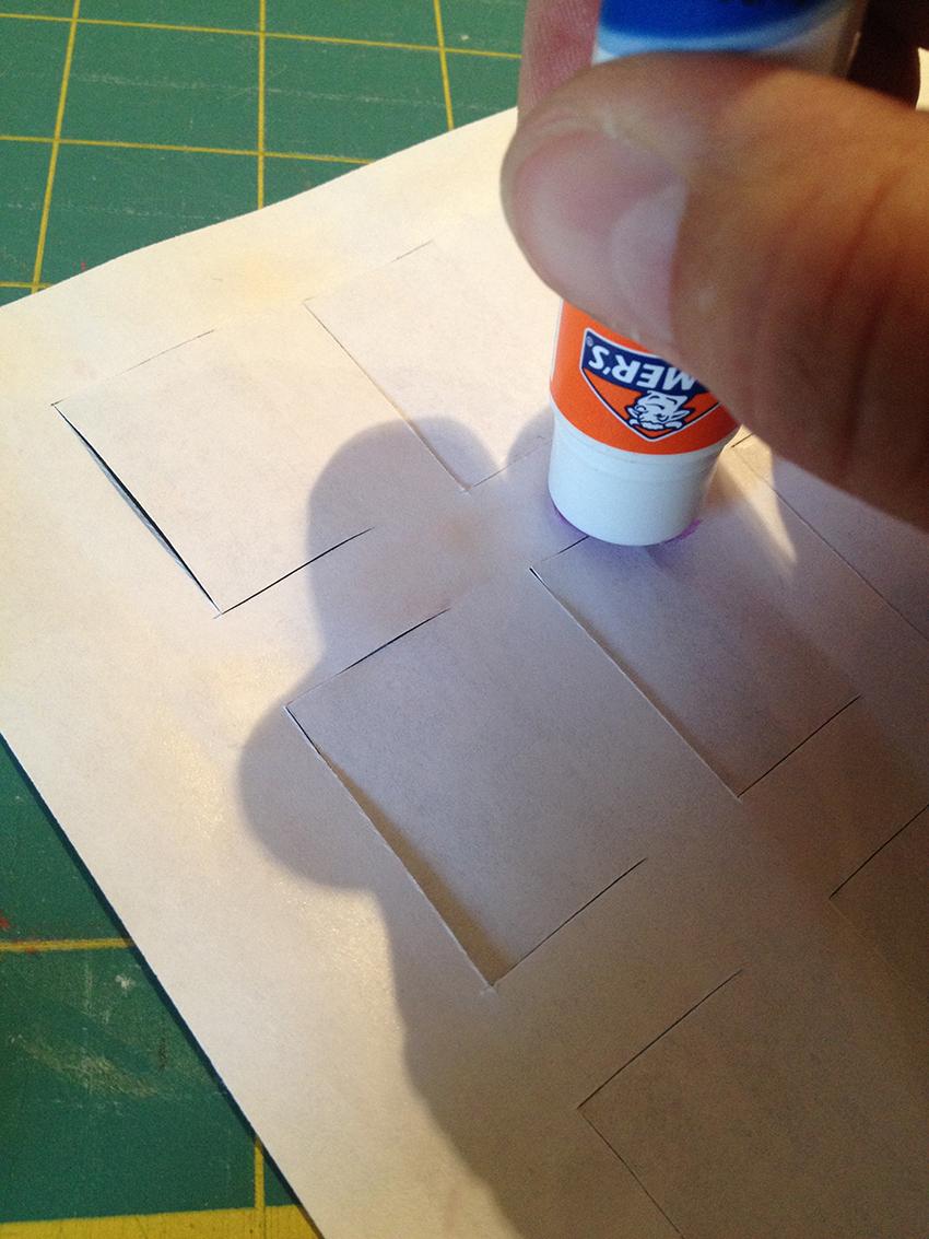 Glueing a Halloween Countdown Printable