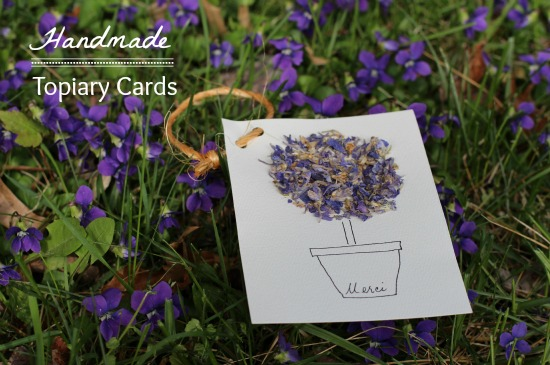 handmade topiary cards