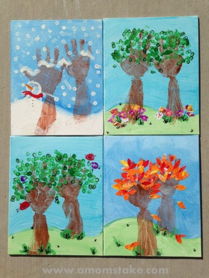 Handprint Seasons Art