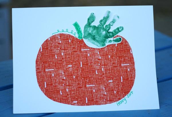 Handprint Pumpkin Keepsake