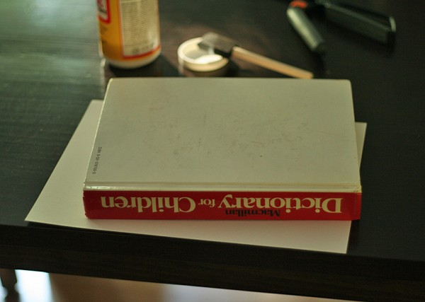 Heavy book for drying glue and fabric