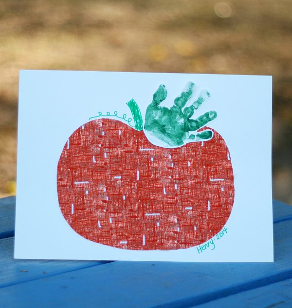Baby Keepsake - Handprint Pumpkin