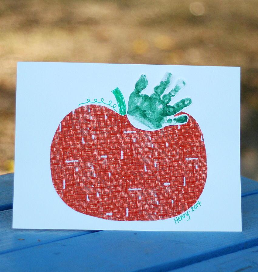 Handprint Pumpkin Keepsake Make And Takes