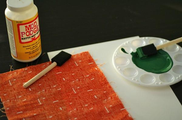 Handprint pumpkin supplies