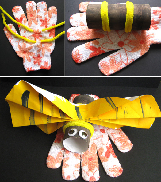 summer camp for kids buzzing bee hand puppet