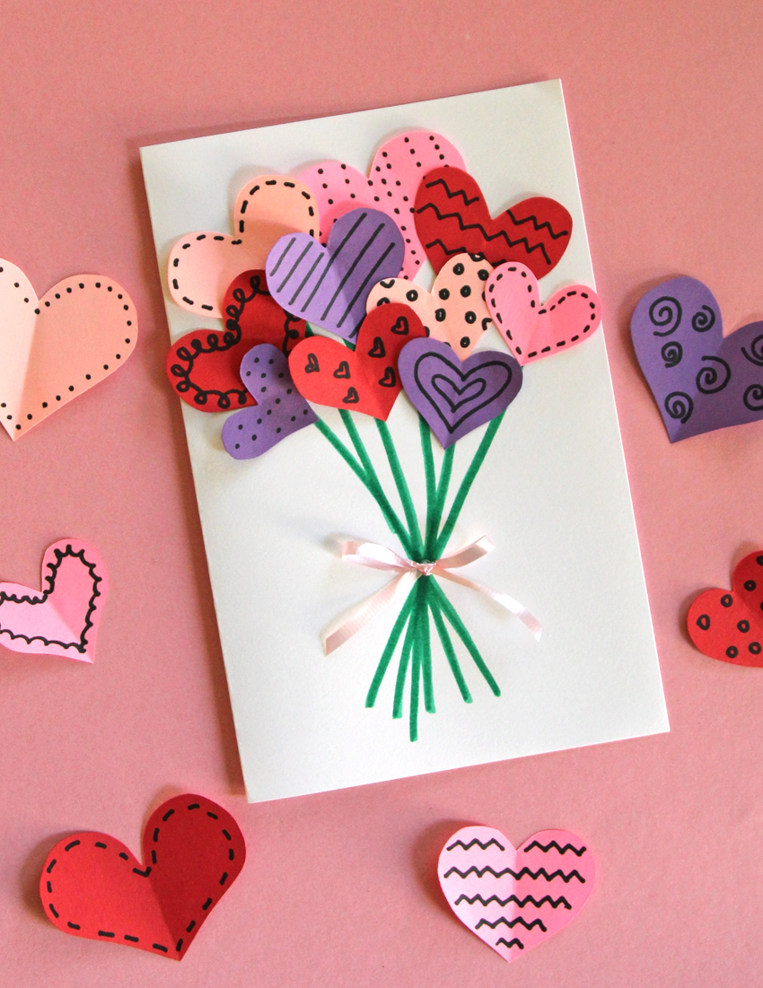 Bouquet Of Hearts Card For Valentines Day Make And Takes