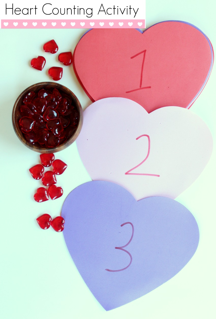 Heart Counting Activity For Preschoolers Make And Takes