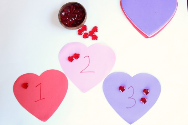 heart counting game for kids