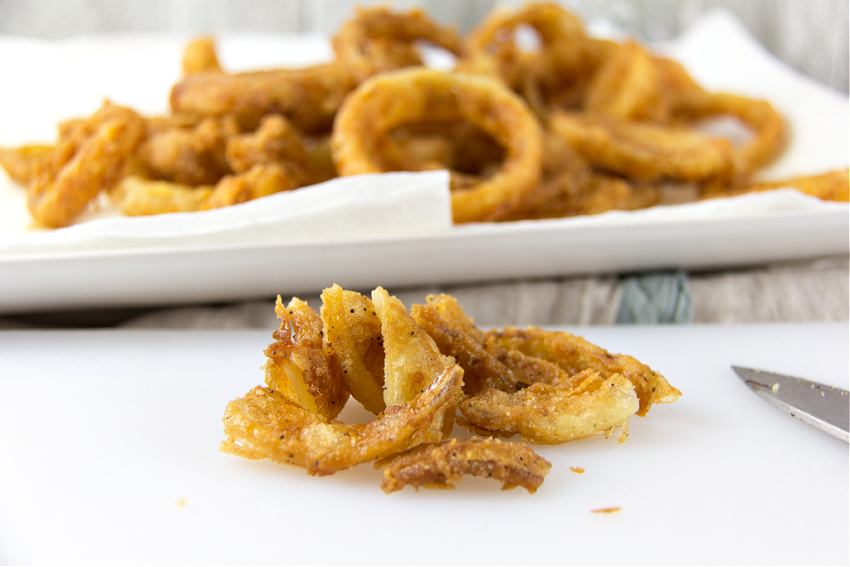 deep fried onion rings for green bean casserole