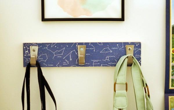 DIY personalized hook rack