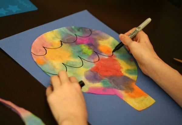 Hot air balloon art project for kids