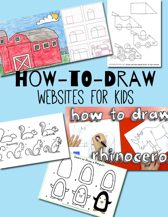 5 howtodraw websites for kids make and takes