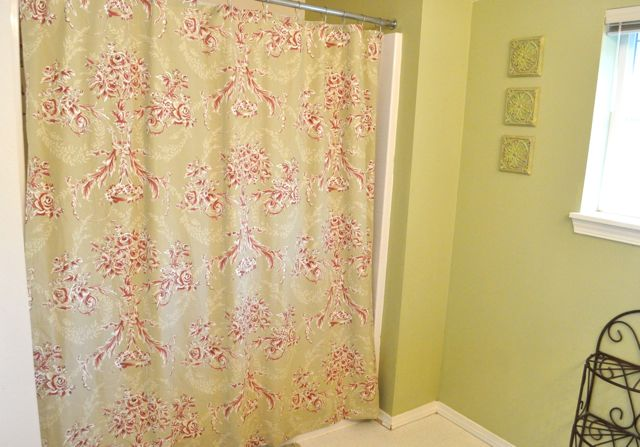 supplies to make a shower curtain from a bed sheet
