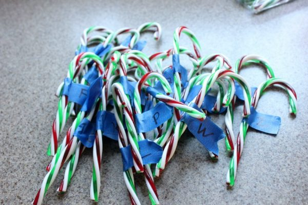 how to make candy cane alphabet hide and seek game
