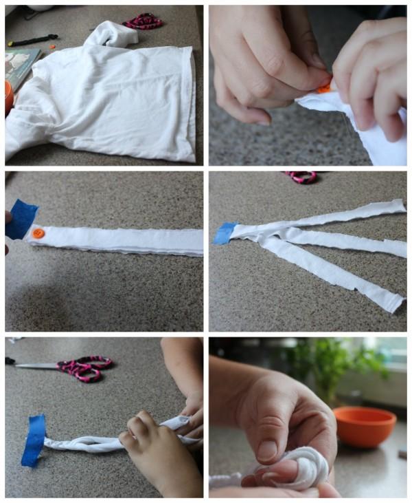 how to make fabric bracelet