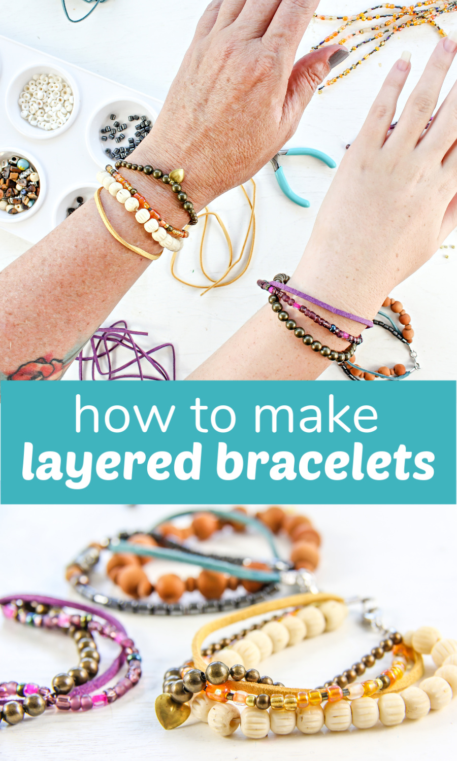 Make DIY Layered Beaded Bracelets