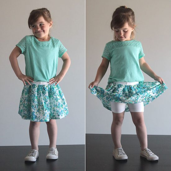 Easy Skirt with Attached Shorts