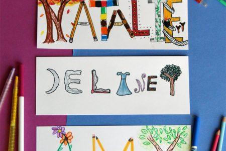 Drawing with kids: illustrated names