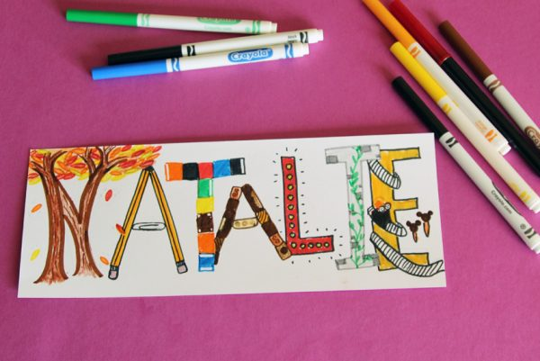 Creative drawing project - illustrated names