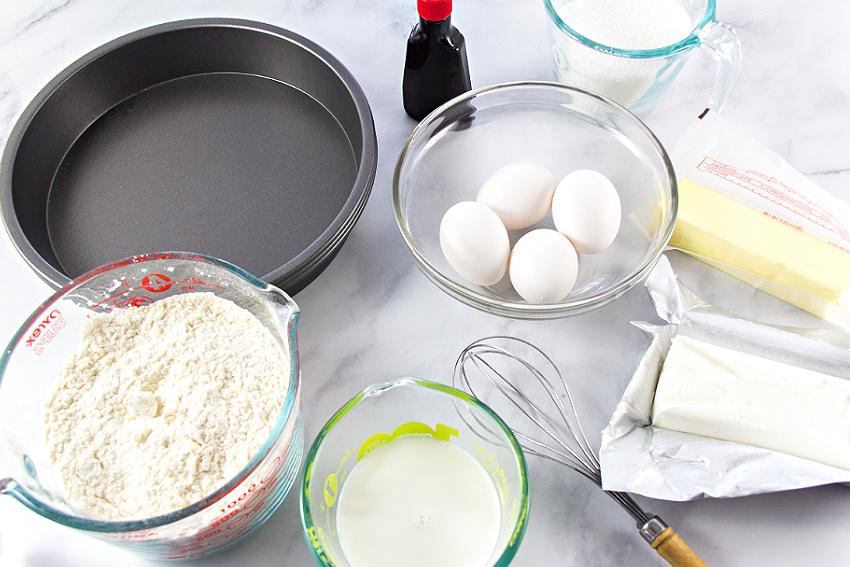 ingredients to make a white cake