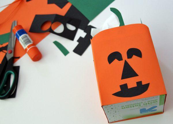 Jack-o'-Lantern tissue box for Halloween