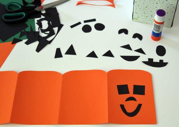 Paper jack-o'-lantern tissue box cover