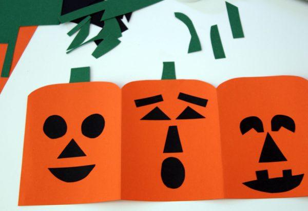 Jack-o'-lantern tissue box art project