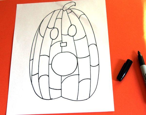 Zentangle Jack-o'-lantern art
