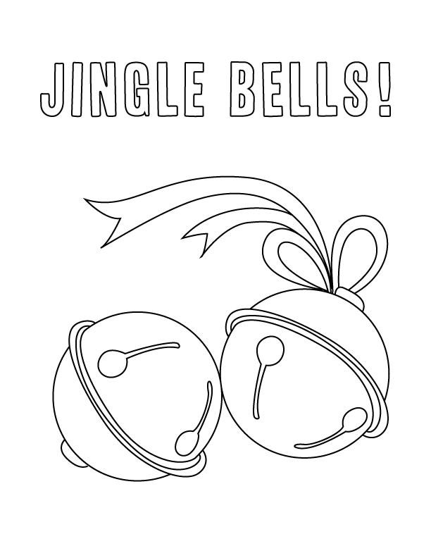 jingle bells coloring pages - photo#2