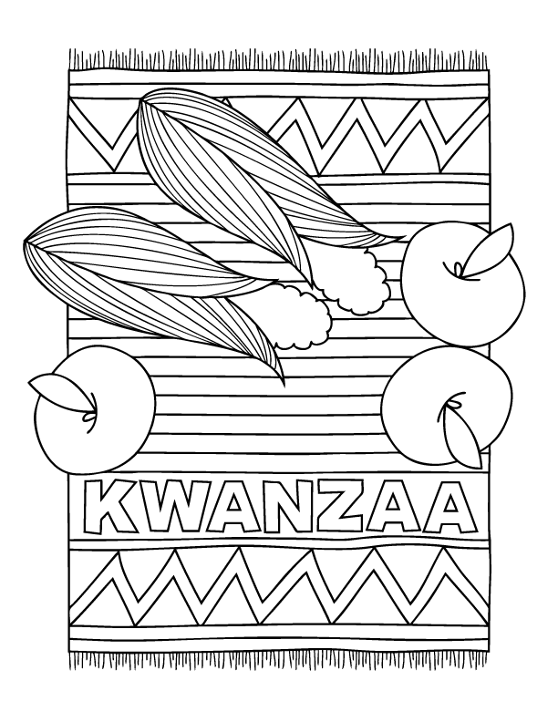 kwanzaa coloring page - Kids Holiday Coloring Pages