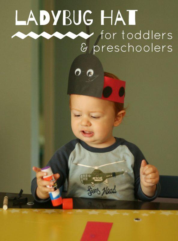 Ladybug Hat Craft for Toddlers & Preschoolers