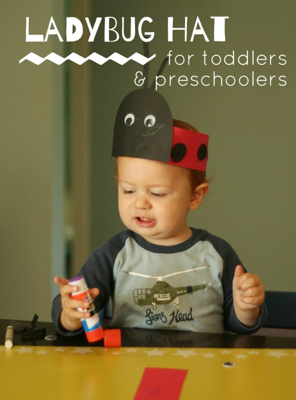 Ladybug Hat Craft for Toddlers & Preschoolers
