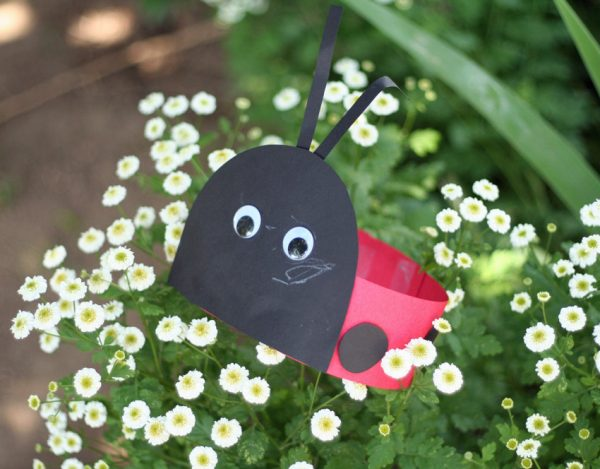 Simple ladybug hat